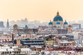 Aerial view of saint petersburg and trinity cathedral from isaac s dome Royalty Free Stock Image