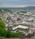 Aerial view of salzburg austria europe Stock Image
