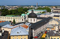 The aerial view of Salzburg City, Austria Stock Photos