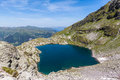 Aerial view of Schottensee (lake) near Pizol Royalty Free Stock Photo