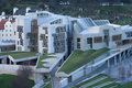 Aerial view of Scottish Parliament Royalty Free Stock Image