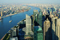 Aerial view of shanghai city Royalty Free Stock Photos