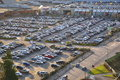 Aerial view shopping center car crowded parking lot coquitlam city bc canada Stock Photo