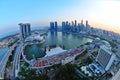 Aerial view of Singapore Marina Bay Royalty Free Stock Photo