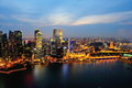 Aerial view of Singapore's financial district Royalty Free Stock Photo