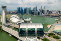 Aerial view of Singapore skyscraper in Singapore. Singapore city Royalty Free Stock Photo