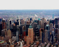 Aerial view of skyscrapers in New York city Royalty Free Stock Images