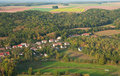 Aerial view of small French village Royalty Free Stock Images