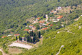 Aerial view on small  village in Montenegro Stock Images