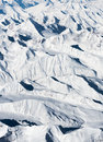 Aerial view snow mountain Royalty Free Stock Photo