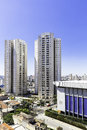 Aerial view of some buildings and houses in sao paulo brazil Royalty Free Stock Photography