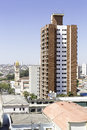 Aerial view of some buildings and houses in sao paulo brazil Stock Photo