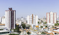 Aerial view of some buildings and houses in sao paulo brazil Stock Images