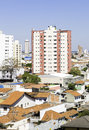 Aerial view of some buildings and houses in sao paulo brazil Royalty Free Stock Photos