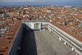Aerial view of the St Mark's Square  in VENICE, ITALY Royalty Free Stock Photo