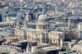 Aerial view of st paul cathedral london uk Stock Images