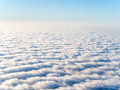 Aerial view of stratocumulus clouds Royalty Free Stock Photo