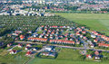 Aerial view of suburbs  Nysa city Royalty Free Stock Photos