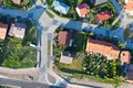 Aerial view of suburbs  Nysa city Royalty Free Stock Photo