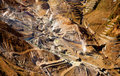 Aerial view of a sulfur quarry in Hakone Stock Photo