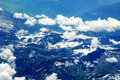 Aerial view of Swiss Alps Royalty Free Stock Photography