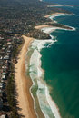 Aerial view of Sydney shore Royalty Free Stock Photo