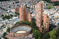 Aerial view to Bogota city Royalty Free Stock Photo