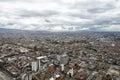 Aerial view to Bogota and Suidad Bolivar under tragic rainy sky Royalty Free Stock Photo