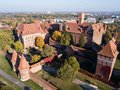 Aerial view to Malbork Castle in Poland