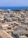 Aerial view to Mediterranean city Royalty Free Stock Photo