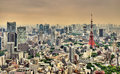 Aerial view of Tokyo Tower Royalty Free Stock Photo
