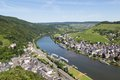 Aerial view of Traben-Trarbach in Germany Stock Photos