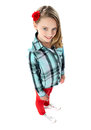 Aerial view of a trendy young girl child Royalty Free Stock Image