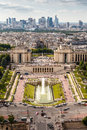 Aerial view on trocadero and la defense from the eiffel tower paris france Royalty Free Stock Image