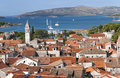 Aerial view of Trogir Stock Photography