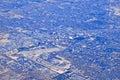Aerial view of urban sprawl Royalty Free Stock Photo