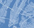 Aerial view USA New York city vector street map Royalty Free Stock Photo