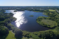 Aerial view of utterslev mire part denmark located in zealand Royalty Free Stock Photos