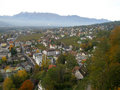 Aerial view of vaduz lichtenstein Stock Photography
