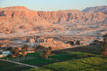 Aerial view of the valley of the kings Royalty Free Stock Photo