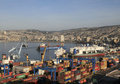 Aerial view on Valparaiso, Chile Royalty Free Stock Images