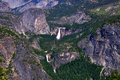 Aerial view of vernal and nevada falls in yosemite national park Royalty Free Stock Image