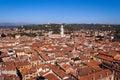 Aerial View of Verona - Veneto Italy Royalty Free Stock Photo