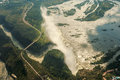 Aerial view of the Victoria Falls Stock Photo