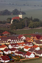 Aerial view of a village Stock Photography