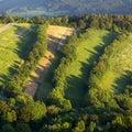 Letecký pohľad na vinice