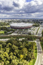 Aerial view of warsaw national stadium poland september on september the was constructed in to meet euro football championship Royalty Free Stock Photos