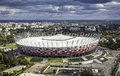 Aerial view of warsaw national stadium poland september on september the was constructed in to meet euro football championship Stock Photo