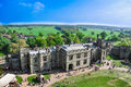 Aerial view of Warwick castle Royalty Free Stock Photo