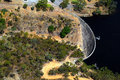 Aerial view of Whispering Wall, Barossa Reservoir, Adelaide, Sou Stock Photos